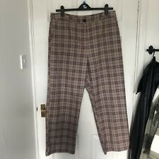 ASOS Collusion Beige Check Trousers Size 18