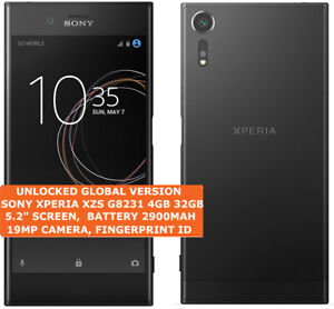 """SONY XPERIA XZS G8231 4gb 32gb Quad Core 19mp HDR Finger Id 5.2"""" Android 4g LTE"""