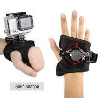 Black Sport Camera Wristband Mount Accessories Kit For GoPro Hero 4/3+/3/2/1