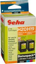 Geha Multipack H19/H20 Tinten kompatibel zu HP C6656A schwarz + C6657A farbig