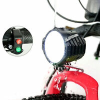 36V 48V EBike Light Scooter Lamp Electric Bicycle LED  Headlight W/ Horn
