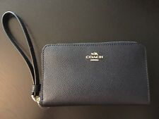 Coach Leather Phone Wallet Wristlet Case Clutch iPhone, Galaxy, Blackberry Navy