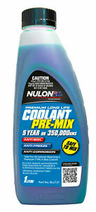 Nulon Blue Long Life Premix Coolant 1L BLLTU1 fits BMW 5 Series 520 d (F10) 1...