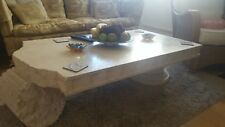 Heavy Large Faux Marble Coffee Table Art Deco Style Unusual
