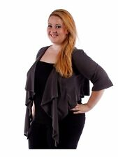 Womens Gray Cardigan Bolero Drip Front Shrug Top Yummy Plus Size 6X