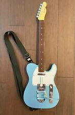 "Xbox 360 Rock Band 2 3 Fender TELECASTER ""Metallic Blue"" Wireless Guitar *RARE*"