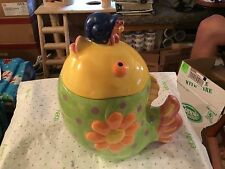 Fish shaped ceramic cookie jar by Cooks Club