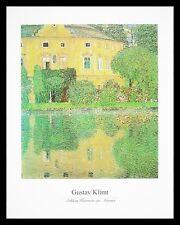 Gustav Klimt Schlosskammer am Attersee Poster Bild Kunstdruck und Rahmen 40x50cm