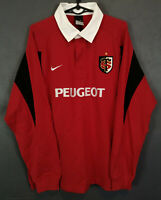 LONG SLEEVE VINTAGE NIKE MENS RUGBY UNION TOULOUSE 2005/2007 SHIRT JERSEY SIZE L