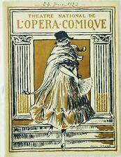 PROGRAMME/THÉÂTRE NATIONAL DE L'OPÉRA COMIQUE/24 JUIN 1922/LOUISE/CHARPENTIER