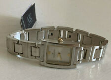 NEW! ANNE KLEIN AK GOLD DIAL SILVER-TONE BRACELET WATCH $75 SALE