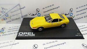 Opel GT 1968 1:43 ème - IXO avec boite pléxi (neuf)