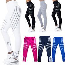 Mujer a Rayas Fitness Leggings Deporte Gimnasio Ejercicio y Yoga