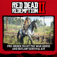 PS4 Red Dead Redemption 2 code The War Horse and The Outlaw Survival Kit Europe