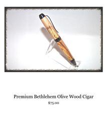 Cigar Pen Bethlehem Holy Land Olive Wood Woodlife Handmade Crafts Israel $75