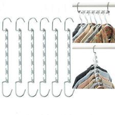 Space Saving Closet Organizer Storage Coat Clothes Hanger Magic Hook Metal