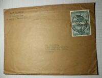Canada 1949 Commercial Cover Used Pair Sc# 282 Large Envelope