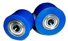 SUZUKI RM 125 81-83  Chain Roller Set Rollers Upper  Lower Chainroller Blue