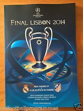 2014 UEFA CHAMPIONS LEAGUE FINAL PROGRAMME *REAL MADRID V ATHLETICO MADRID*