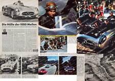 ORIG. photographie en couleur-rapport Mille Miglia MERCEDES 300 slr coureur station service 1955
