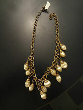 Signed Miriam Haskell 13 Faux Pearl Early Necklace Dangling Vintage