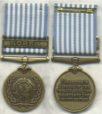 UN Korean War Service Medal -United Nations- Made in the U.S. - full size  Korea