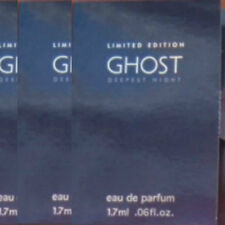 GHOST LIMITED EDITION DEEPEST NIGHT RARE 3 x EAU DE PARFUM SAMPLE VIALS NEW