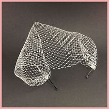 IVORY Combless Wedding Bridal Birdcage Veil Netting Cover Hair Piece Fascinator