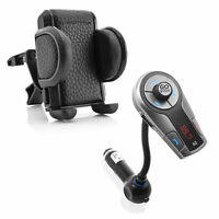 GOgroove FlexSMART X2 Bluetooth FM Transmitter AND Phone Holder Cradle