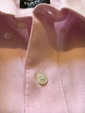 GANT Mens L Shirt Pink Oxford Cotton Button down front Large Casual Dress Formal