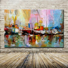 Unframe Wall Picture  Hand Painted Modern Abstract Oil Painting On Canvas