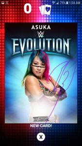 DIGITAL CARD 2018 WWE Slam Topps Asuka Evolution Signature Auto DIGITAL CARD