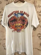 Vintage  Iron Maiden Monsters Of Rock  T Shirt  1992 Slayer Skid Row Wasp