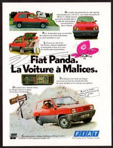 1981 FIAT Panda Vintage Original Print AD - Red car photo Dakar off road France