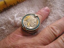 Vintage Silver Ring with Nickel American West