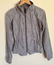 Lululemon Jacket 4 Floral Lace Pleated Peplum Ruffle Grey