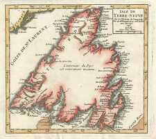 1749 Vaugondy Map of Newfoundland