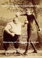 Vintage/Old/Antique 1800-1900's Weird/Strange/Boxing Side/Freak Show Act Photo