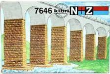 Kibri N + Z 7646 6 Pillar Extensions Stone Arch Bridges 1/220 Scale NIB
