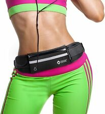 Running Jogging Belt Cycling Fanny Pack Waist Bag Pouch For Iphone Android Black