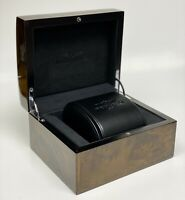 Breitling Shiny Brown Wood Black Leather Cover Brand New Watch Box