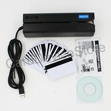 MSR605X Hi-Co Magnetic Stripe Credit Card Reader Writer Encoder MSR206 MSR606 TK