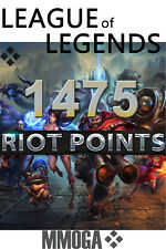 1475 LOL RP Key Code - League of Legends 1475 Riot Points Card PC Game NEU - EU