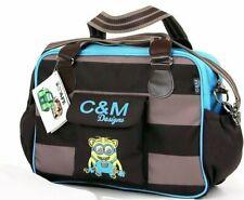Boys Large Blue Shoulder Messenger Changing Bag inc Mat