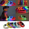 LED  Fashion Pet Dog Collar Leopard Flashing Luminous Adjustable Safety Light Up
