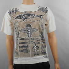 Churinga Austraila Mens White Aboriginal Wildlife Nature Tribal T Shirt M Medium