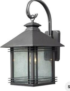 "Elk Lighting 42302/1 Dark Graphite Landis Single Light 22""H Outdoor Wall light"