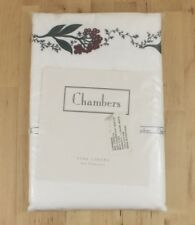 Chambers San Francisco Linens Holiday Berry Embroidered Full Queen Flat Sheet