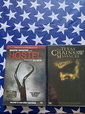 2 dvd lot. Texas Chainsaw Massacre. Hostel. Used