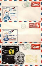 America's First 3 Space Flights- Shepard, Grissom & Glenn-Towner cachet (scarce)